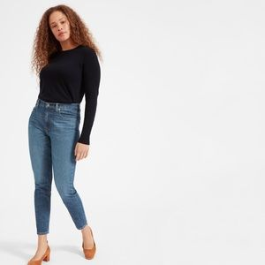 Everlane High Rise Skinny Jeans - Mid Blue